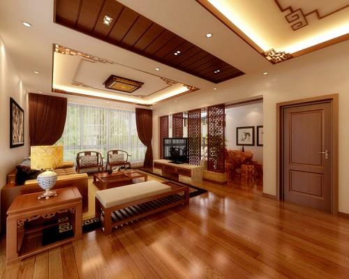 中式:客厅1